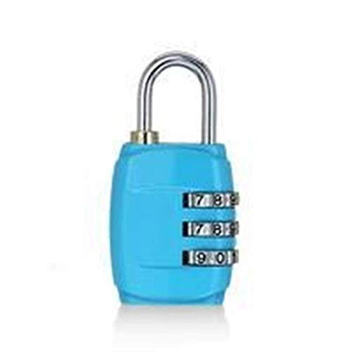 HZWLF Candados Cerradura antirrobo, combinación de contraseña de 3 dígitos, Maleta, Maleta, Cerradura con código de Metal, cerraduras codificadas