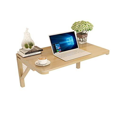 YAHAO Mesa de comedor montada en la pared, mesa plegable contra la pared, mesa de pared de madera maciza, mesa de ordenador, mesa de comedor, 80x40cm
