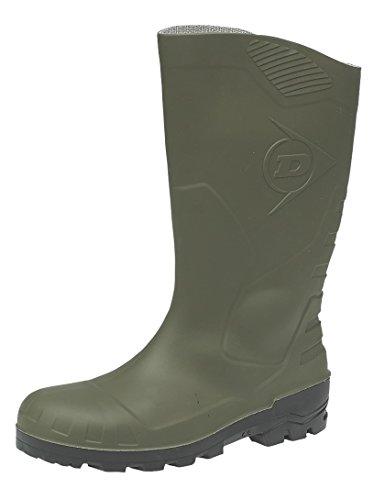 Dunlop Devon Bottes de Wellingtons de haute sécurité Unisexe - Vert - PVC noir et vert., 12 UK