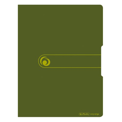 Herlitz 11282704 Sichtbuch A4, Recycling Polypropylen-Folie, mit 20 Klarsichthüllen, dunkelgrün