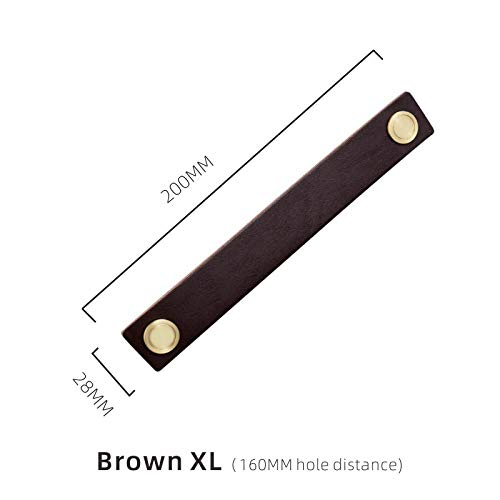 Deurklinken lederen meubels handgrepen Moderne eenvoudige ladekast deurkrukken bruin-XL