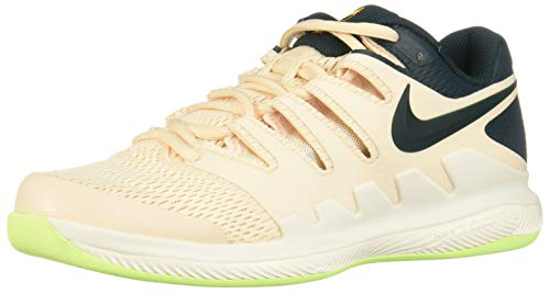 Nike Damen WMNS Air Zoom Vapor X CPT Tennisschuhe, Mehrfarbig (Guava Ice/Midnight Spruce-Orange Peel 800), 37.5 EU