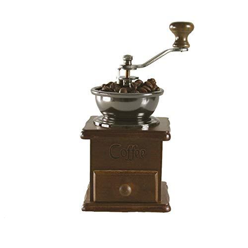 Pceewtyt Manuelle Kaffeemühle, kreative Kaffeemühle mit einstellbarer Grobheit, Vintage-Stil, antikes Holz, Handkurbel, Kaffeemaschine – Geschenk für Kaffeeliebhaber, Birnenholzfarbe