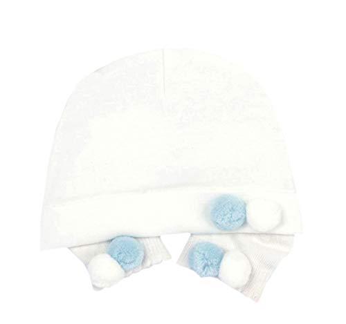 Baby Mädchen Mütze Schleife Turban Donut Wrap Caps Pom Pom Rose Hat mit Socken Soft...
