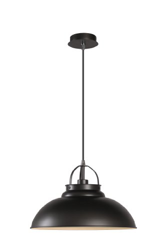 Preisvergleich Produktbild Lucide HAMOIS - Pendelleuchten - Ø 40 cm - E27 - Grauguss