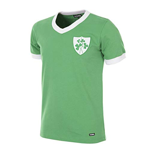 Copa Ireland 1965 Retro Football Shirt Camiseta Retro de fútbol con Cuello en V. Hombre