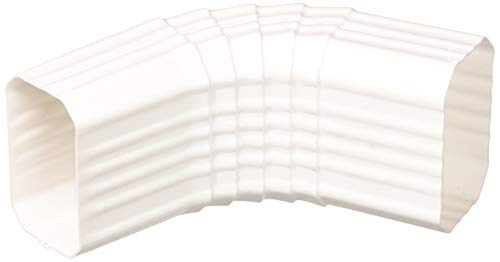 Genova Products AW201A A-Style Downspout Elbow, Vinyl, White