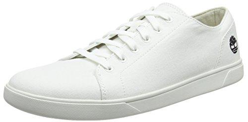 Timberland Bayham Canvas Oxford, Zapatos de Cordones Oxford Hombre, Blanco (Bright White Canvas 143), 41.5 EU