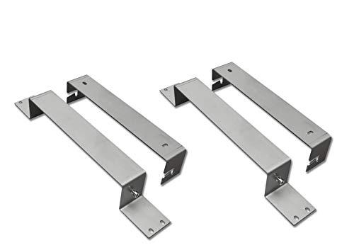 LED Panel Befestigung Montage Edelstahl Halterung für LED Panels 120x30cm 60x30cm 30x30cm 150x30cm 90x30cm (2 Set)