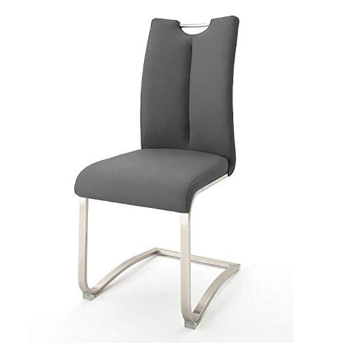 2 Stühle Artos, Schwinger, Schwingstuhl, Freischwinger, grau, 140 kg