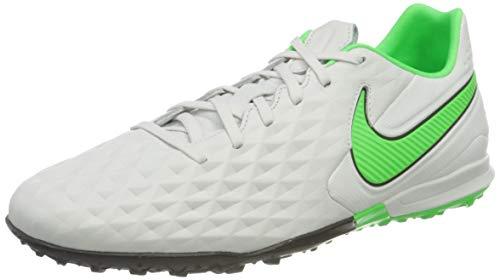 Nike Legend 8 Pro TF, Zapatillas de ftbol Unisex Adulto, Platinum Tint Rage Green Black, 44 EU