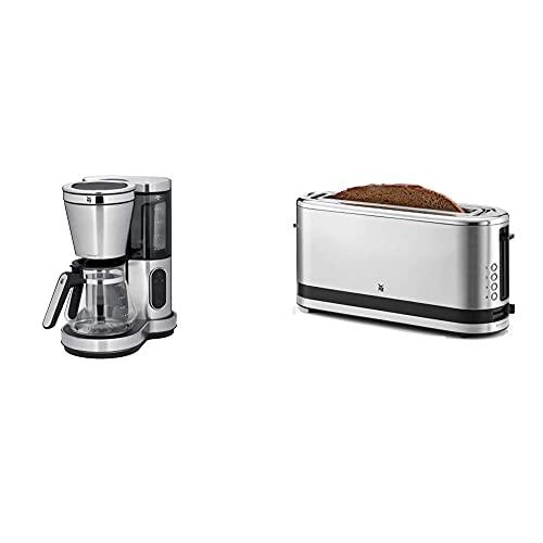WMF Lumero Kaffeemaschine mit Glaskanne, Filterkaffee, 10 Tassen, Timerfunktion, 1000 W & Küchenminis Toaster Langschlitz mit Brötchenaufsatz, 2 Scheiben, XXL