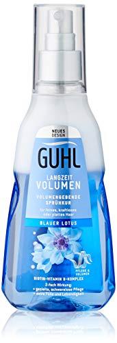 Guhl Langzeit Volumen Sprühkur mit blauem Lotus - für feines, plattes und kraftloses Haar, 180 ml
