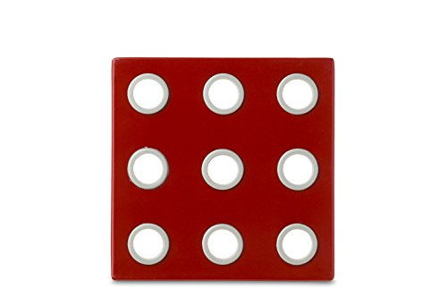 Rosti Mepal Domino Dessous de plat en mélamine et silicone Rouge Luna