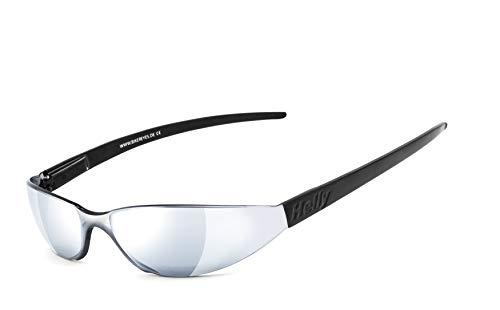 HELLY® - No.1 Bikereyes® | Bikerbrille, Motorrad Sonnenbrille, Chopper Brille | WELTREKORD: Die wohl kleinste Bikerbrille der Welt | beschlagfrei, windabweisend, bruchsicher | TOP Tragegefühl bei langen Ausfahrten | Brille: freeway 3.1
