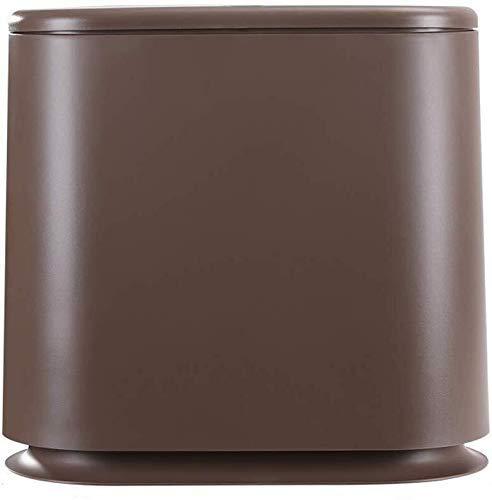 Waste Bin Bathroom Toilet Trash Can House Living Room Bathroom Kitchen Waste Bin With Big Feet (Color : Brown)