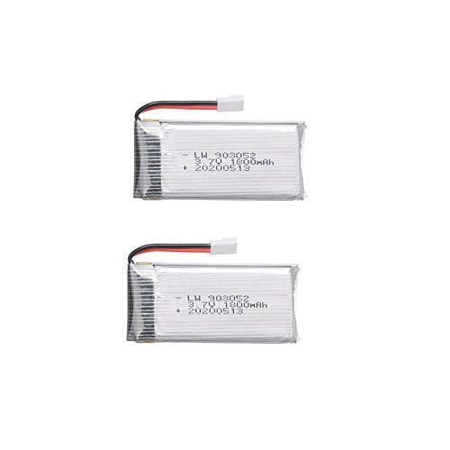 ZZBAT Cargador de batería lipo de 6 uds 3,7 v 1800 mAh para KY601S SYMA X5 X5S X5C X5SC X5SH X5SW M18 H5P para batería de helicóptero Drone de 3,7 V-2 baterías