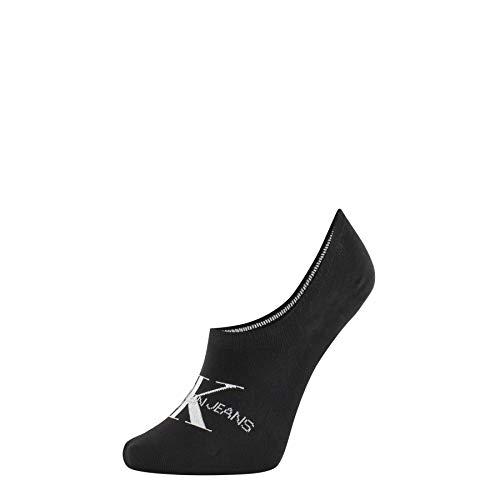 Calvin Klein Socks Womens Liner 1p Jeans Logo Brooklyn Socks, Black, ONE Size