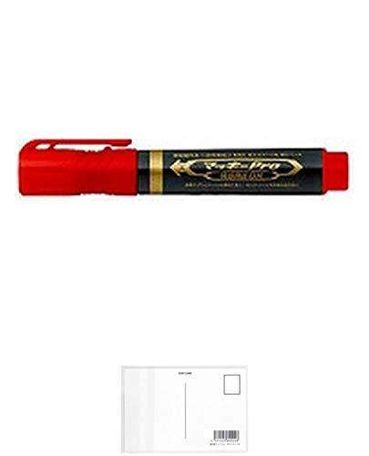 ゼブラ 油性マーカー マッキープロ 特殊用途DX YYS10-R 赤 【× 7 本 】 + 画材屋ドットコム ポストカードA