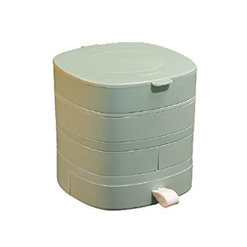 Portátil Caja de joyería caja de joyería de rotación para pendientes collares anillos regalos de cumpleaños mujeres niña casa joyería organizador exterior ( Color : Green , tamaño : 4.7x5.1x4.7 inch )