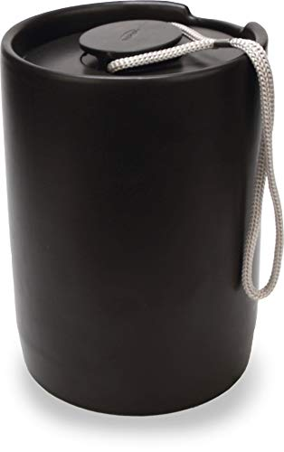 La Cafetière Seattle Coffee Container with Airtight Lid, Ceramic, Black, 1.4 L