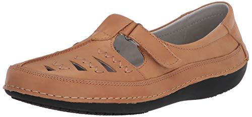 Propét Women's Clover Loafer Flat, Oyster 7.5 narrow US