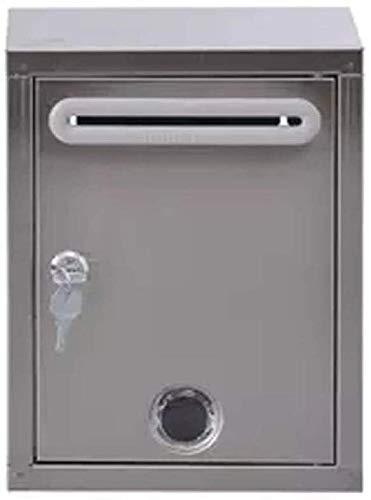 LUCKY Mailbox, Wetteraußen Postbox, Edelstahl Ballot Box Mehrzweck mit Verschluss Suggestion Box im Freien Wasserdichten Mailbox kann an der Wand montierten Bericht Box, Silber, 8.2 * 4.3 * 10.6in