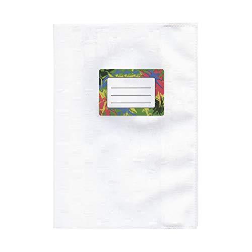 Heftumschlag - Buchumschlag A5 Weiß mit Bastprägung