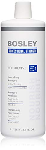 Bosley Bos Revive Nourishing Shampoo for Visibly Thinning Non Color-Treated Hair, 33.8 Ounce