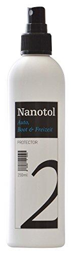 Nanotol Auto, Boot, Freizeit Protector 250 ml (40 m²) - Nanoversiegelung (Step 2) für Lack, Felgen, Autoglas - Glanzversiegelung Lackpflege Lotuseffekt Keramik-Polymer-Hybrid-Beschichtung