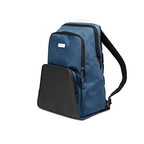 Moleskine City Travel rugzak voor 33 cm (13 inch) en tablet, rugzak met ademend rugpaneel, 28 x 17 x 37 cm 29.2 x 17.8 x 41.3 cm Boreale Blauw