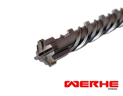 WERHE Profi SDS Plus Betonbohrer 18 x 460 mm Hammerbohrer Steinbohrer Beton Bohrer