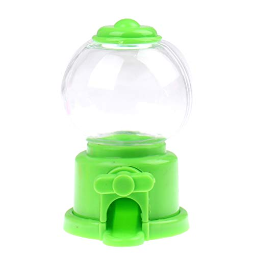 Haiabei 1 unid lindos dulces mini máquina de caramelo burbuja juguete dispensador banco de monedas niños juguete almacén burbuja Gumball dispensador banco de monedas