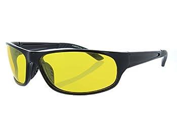Fiore HD Night Driving Sunglasses Aviator Sport Wrap Glasses  Polarized Sport - Black