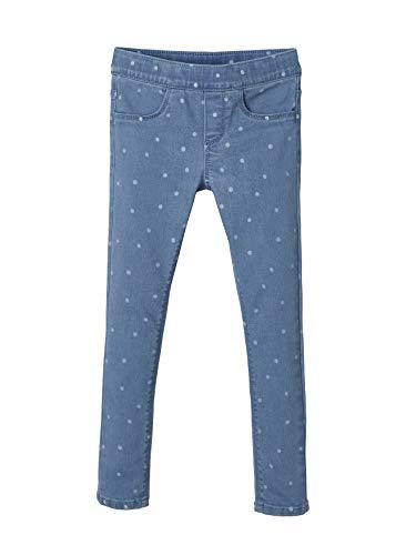 Vertbaudet Jeans-Treggings für Mädchen, Bedruckt Blue Stone Punkte 146/152