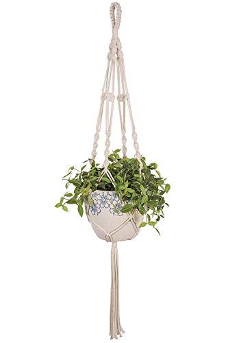 Goodpick Makramee-Pflanzenaufhänger Stabiler Blumentopfhalter – Handgefertigte Innenwand aus Baumwollseil zum Aufhängen, Pflanzgefäß, Pflanzenhalter – Moderne Boho Home Decor