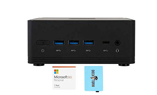 ECS Elitegroup Liva Z2V Everyday Value Desktop Mini Negro (Intel Celeron N4000 de 2 núcleos, Intel UHD 600, WiFi, Bluetooth, 3xUSB 3.0, 1xHDMI,) con MS 365 Personal, Hub 363-G2DMY25S6