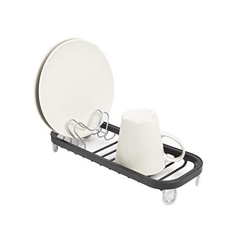 UMBRA Mini lavabo negro. Mini escurridor para fregadero, para colocar en el fondo del fregadero o sobre la encimera. Negro