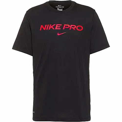 NIKE Camiseta para Hombre Db Pro, Negro/Rojo Brillante, Talla XXL