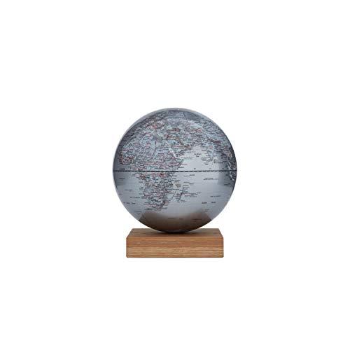 emform Platon Globus magnetisch mit Eichenholz-Sockel Silber 300 mm