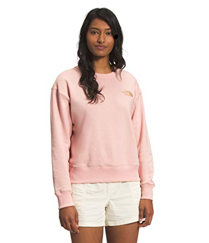 The North Face Women's Parks Slightly Cropped Crew, Evening Sand Pink, XL