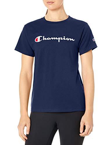 Champion Damen Classic Tee T-Shirt, Athletic Navy, Klein