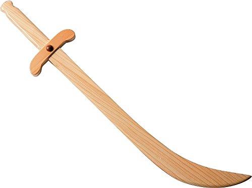 SPADE DI OGNI GENERE legno sciabola curva, 50 cm