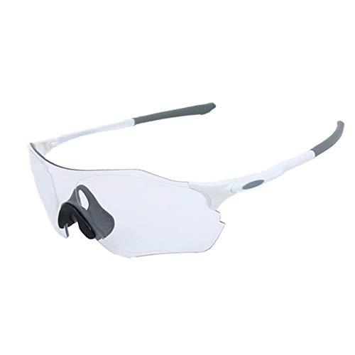Hombres y Mujeres Gafas de sol, Clásico Moda Ciclismo Gafas de Gafas de sol Parabrisas Deportes al aire libre Bicicleta de Montaña Gafas de Deportes Gafas de sol de Protección Ciclismo de la Lente de Descoloración Para Hombres Mujeres al aire libre Acto blanco Blanco