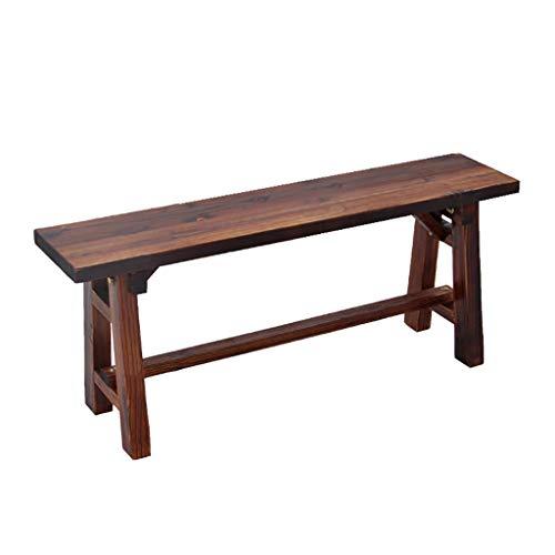 Banc en bois massif vieilli à la maison, banc long dans le banc de repos (4 tailles). (taille : 120 * 23.5 * 42cm)