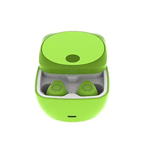 WLBH Auriculares inalámbricos, Auriculares inalámbricos a Prueba de Agua IPX5 Control táctil, Auriculares Bluetooth 5.1, 25 hrs con Carga USB con la Carrera. Green
