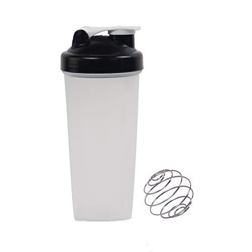 600ml Protein Shaker With Blending Ball Classic Loop Top Shaker Bottle, Travel & To-Go Drinkware (Black)