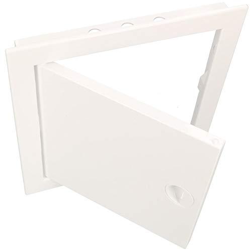 KOTARBAU Revisionstür 20 x 40 cm Alle Größen Kunstoff ABS Inspektionstür Weiß Wartungsklappe Schnappverschluss Abnehmbar Wand/Decke/Boden Robust Öffnung Uni.