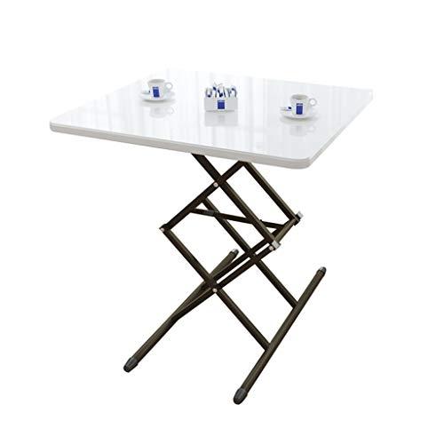 Klaptafel Hoogte Verstelbare Thuis Eettafel Portable Tafels, Eenvoudig Te Monteren For Overbed, Salontafel, Computer Desk (Color : White, Size : 63X45CM)