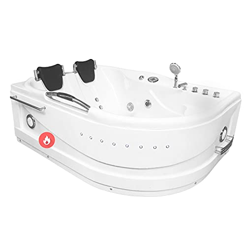 Whirlpool massage hydrotherapy bathtub hot tub 2 person CAYMAN with Heater